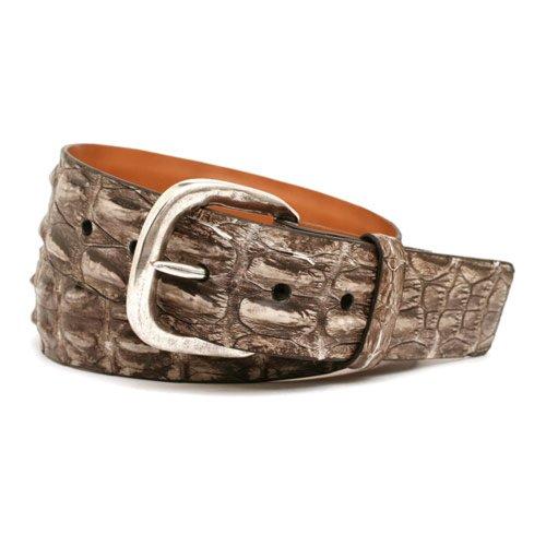 Trafalgar Richmond Genuine Australian Hornback Crocodile Belt (38 Bone) front-89462