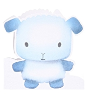 Cute Lamb New Baby Greetings Card