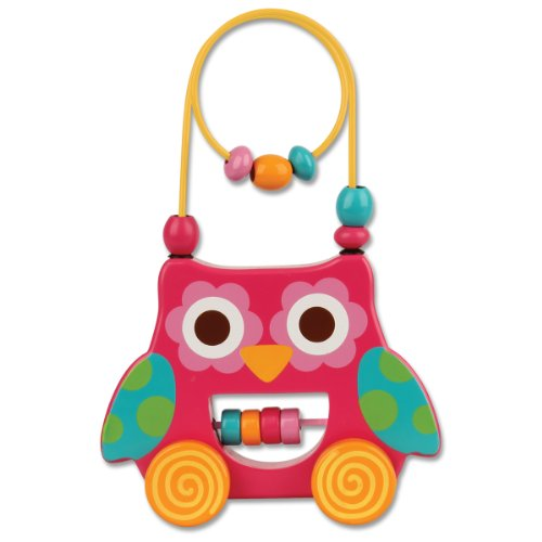 Stephen Joseph Owl Rolling Wire and Bead Toy - 1