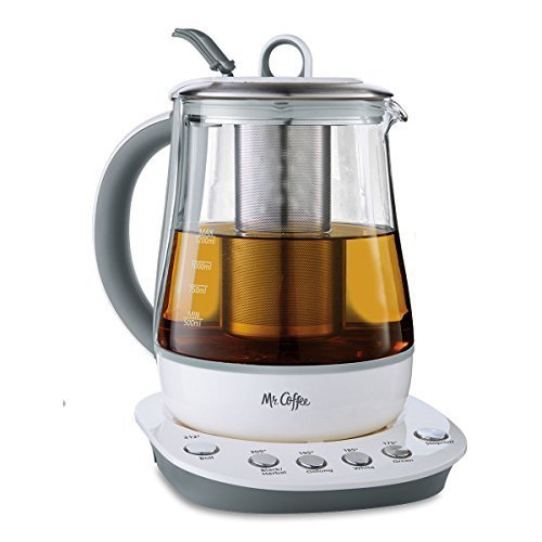 Mr. Coffee 1.2 L Hot Tea Maker and Kettle with Precise Steeping Technology White, HTK100 (Hot Cold Coffee Maker compare prices)
