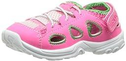carter\'s Veloz-G Fisherman Sandal (Toddler/Little Kid/Big Kid),Pink/Green,8 M US Toddler