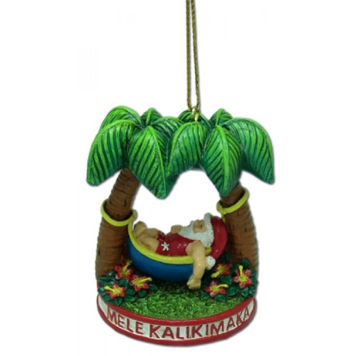 Santa Clause in the Hammock Ornament