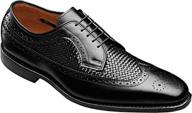 Allen-Edmonds Men's Boca Raton Black Custom Calf/Black Weave Oxford 11 D (M)