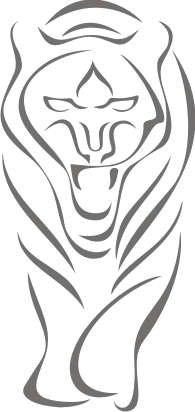 Imagen 1 de Etiqueta de la pared b002 rugido del tigre 96x45 cm