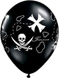 Single Source Party Supplies - 11 Pirates Treasure Map Latex Balloons Bag of 10