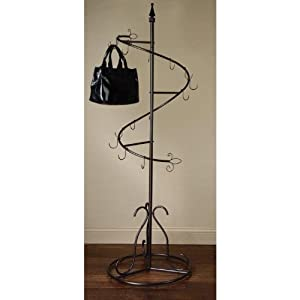 Amazon.com: Purse Handbag Metal Display Tree Stand / Coat Rack, Brown