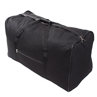 More4bagz Set of 2 34 Inch XXL 174 Litres Black Lightweight Travel Folding Cargo Holiday Bag