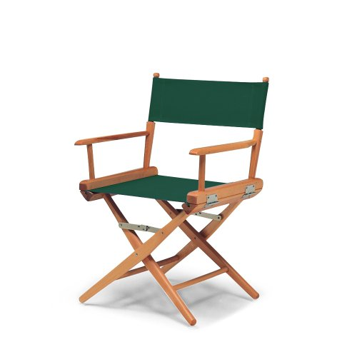 Telescope Casual World Famous Dining Height Director Chair, Green With Varnish Frame