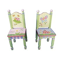 Big Sale Teamson Kids Girls Set 2 Chairs - Magic Garden Room Collection
