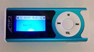 IRIDESCENT Blue 4 Gb Oled Mp3 Player with Build in Flashlight, Speaker and Radio