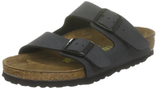 Birkenstock, Sandales mixte adulte  Nubuck Basalte, 43 EU Picture