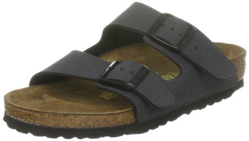 Birkenstock 651161 - Sandalias con hebilla unisex, Gris (Nubuck Basalte), 44 (normal)