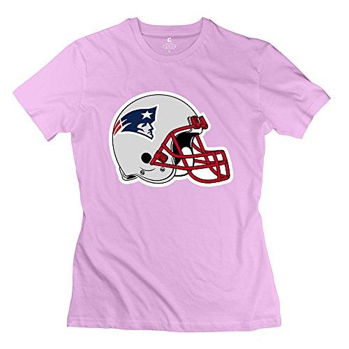 Jiuzhou Women's Tshirts New England Patriots Helmet XXL Pink