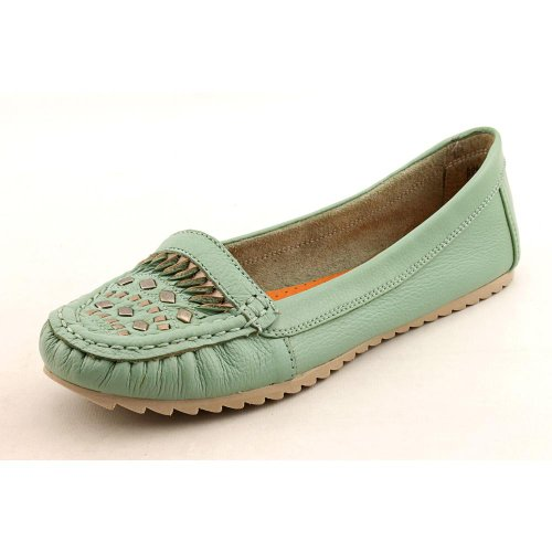 Baretraps Adeen Womens Size 11 Green Moc Leather Loafers Shoes