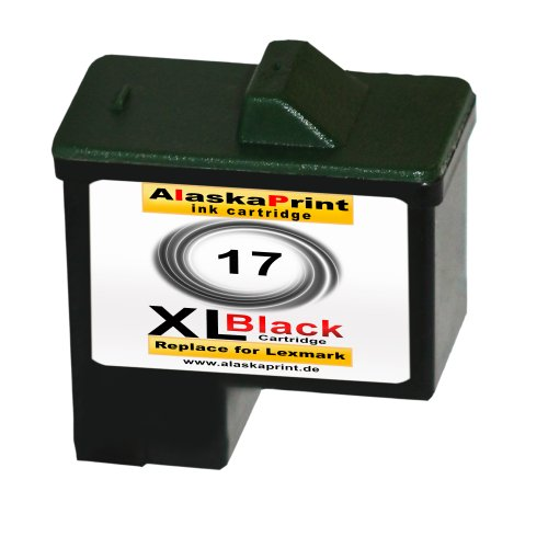 Sparangebot 1x Druckerpatrone Tintenpatrone Ersatz für Lexmark 17 XL (1x Black ) Ink Cartridge Original Vanaserie