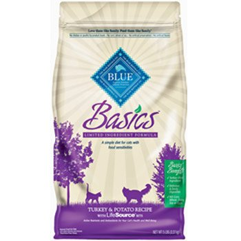 See Blue Buffalo Basics Dry Cat Food, Turkey and Potato Recipe, 11-Pound Bag