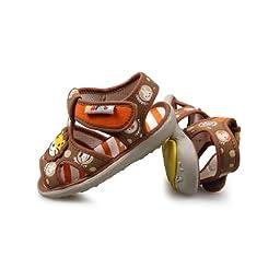 H:oter® Newborn Baby/Infant Boys Toddler First Walking Sandals, Squeaky Prewalker Sandals
