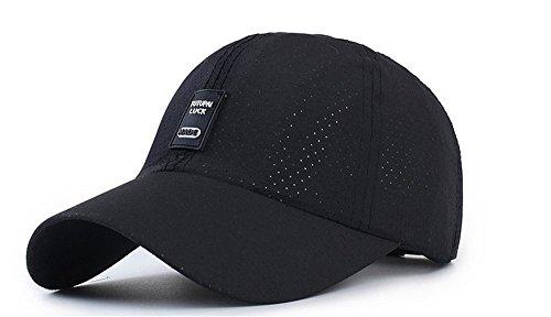 I-WANT 帽子メンズ 夏 通気性 折り畳み 登山 釣り 男女兼用 メッシュキャップ メンズ レディース 通気性 (ブラック)