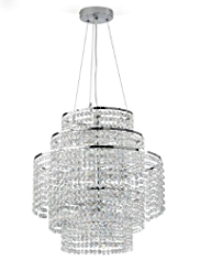 5 Tiered Statement Glass Beaded Chandelier