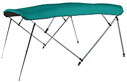 "Square Tube Pontoon Bimini Top Kit, Persian Green Sunbrella (8'L 48""H 96-102""W)"