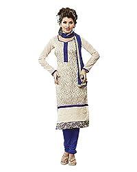 GoAavaran Women's Chanderi Cotton Unstitched Salwar Suit