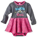 Santa Rocks, X'mas - Baby Girl Bodysuit, Size 6M