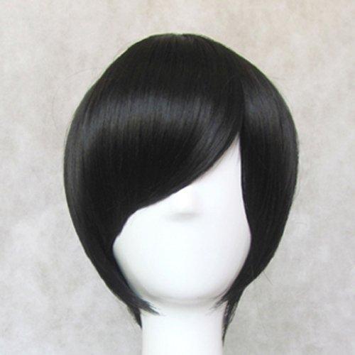 Axis Powers_APH Japan&Honda kiku_slim face_35cm_black_Japanese high temperature resistant fiber wigs by wyz