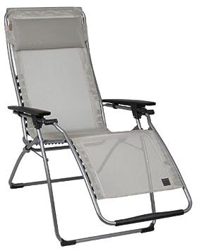 Sedia poltrona relax pieghevole portatile picnic giardino esterno Stripes Azzurr