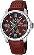 Comprar Festina F16585/1 - Reloj analógico de cuarzo para hombre con correa de piel, color rojo