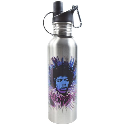 Jimi Hendrix - Portrait Water Bottle front-349075