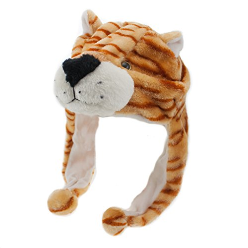 Plush Animal Hat Kids & Adults Soft Winter Ear Flap Pom-Pom