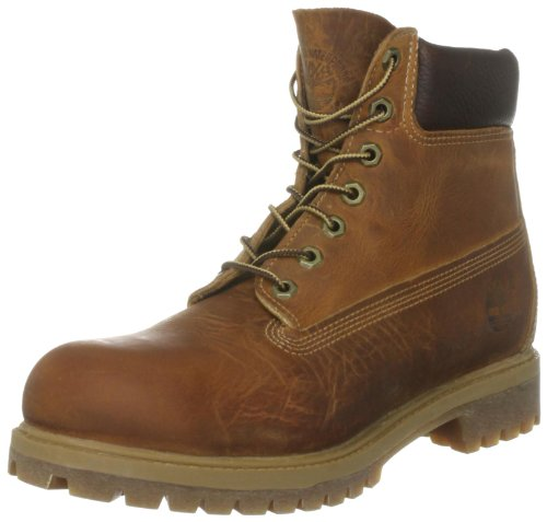 Timberland, Af 6 In Annvrsry Brn Brown, Stivali, Uomo, Marrone (Brown Burnished Full Grain), 43.5