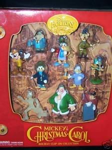 Amazon.com: Disney Holiday Mickey's Christmas Carol ~ Set of 10 Figures: Home & Kitchen