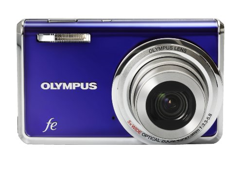 Olympus FE-5020 12MP Digital Camera with 5x Wide Angle Optical Zoom and 2.7 inch LCD (Royal Blue)