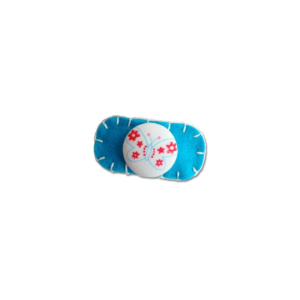 Too Cuties Turquoise Butterfly Moonbeam Hair Clip (Baby/Kid)