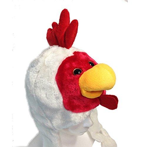 動物 被り物【鳥 かぶりもの帽子】コスチューム用 小物 子供/大人用 52cm-54cm±(にわとり)