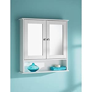 door white colour cabinet mirrored bathroom home furniture decorative