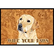 Yellow Labrador Wipe Your Paws Indoor / Outdoor Floor MAT 18 X 27 Inches