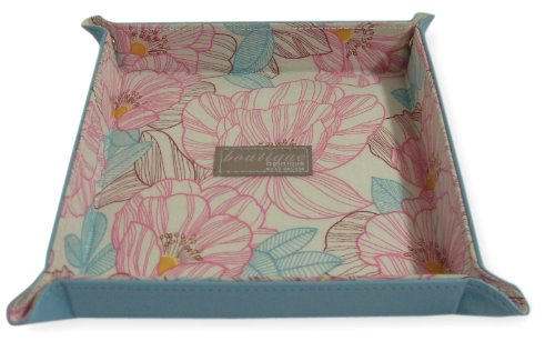 Boutique Tiffany Turquoise Valet/Coin Tray Floral Lining