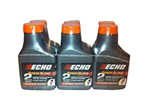 Echo 6450001 Power Blend 1 Gallon Oil Mix  6 Pack
