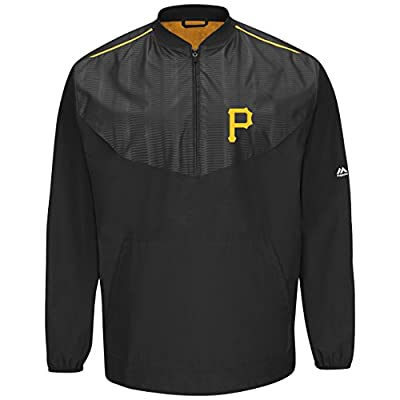 Majestic Pittsburgh Pirates Half Zip Cool Base On-Field Training Jacket
