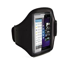 iTALKonline BLACK Sports GYM ArmBand Case Cover for BlackBerry Z10