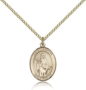 Gold Filled Women's Patron Saint Medal of ST. AMELIA - Includes 18