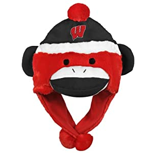 NCAA Wisconsin Badgers Team Sock Monkey Hat by Forever Collectibles
