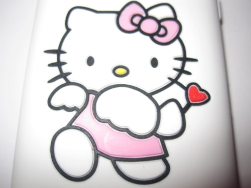 IPhone 3G3GS light weight Cupid Hello Kitty Stamped Silicone Case / Skin White