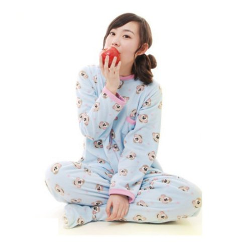 Footed Onesies Monkey Pajamas Sleepsuit Sleepwear Pyjamas Size S front-831540