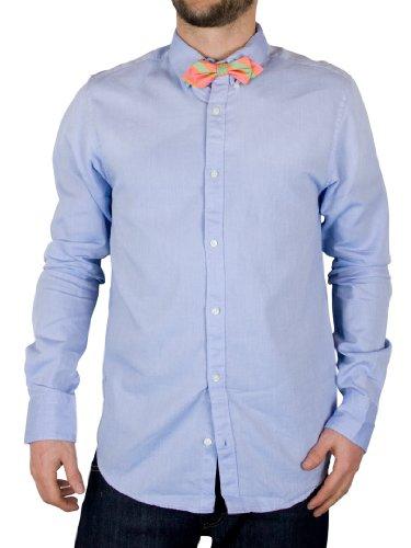 Scotch & Soda Blue Dress Shirt With Bow Tie - Size: S