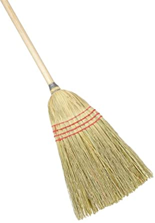 """O'Dell BR10012 Corn/Synthetic Fiber Maid Broom, 56"""" Overall Length (Case of 6)"""