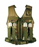 Ultimate Arms Gear Tactical Scenario Woodland Camo Paintball Airsoft Battle Gear Tank - Armor Pod Vest