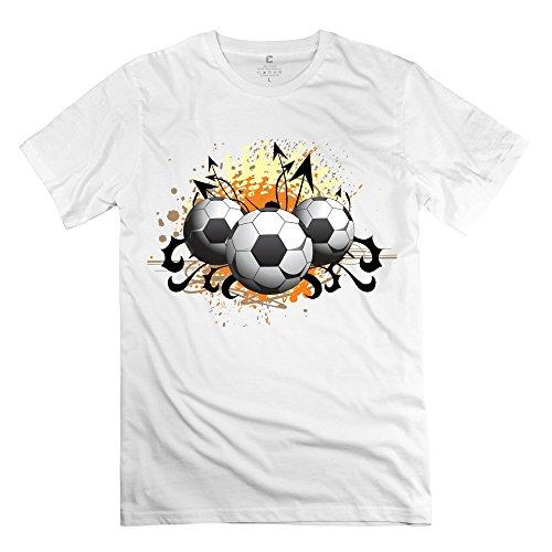 Tasy 100% Cotton Men'S Origianl Soccer Art Graffiti T-Shirt - Xxl White